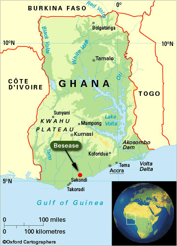 map of ghana west africa. in Ghana includes a finger